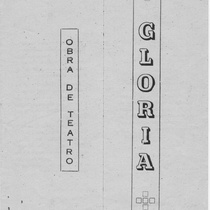 Program for the theatrical production, Gloria (Nuevitas, 1963)