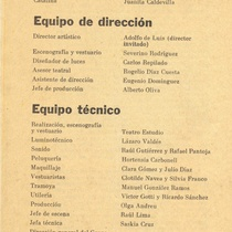 "Program for the production ""La fuga"""