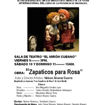 Flyer for the production, Zapaticos para Rosa