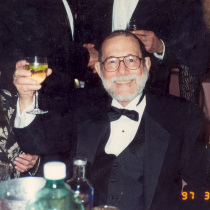Ana Margarita Martínez Casado, Abelardo Estorino, and Ricardo Barber toasting in New York