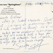 Postcard from Leandro Soto to Lillian Manzor