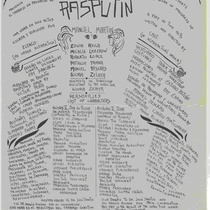 "Program for the work in progress of the production, ""Rasputin"""
