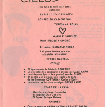 "Program for the production, ""Quinto cielo a la derecha"""