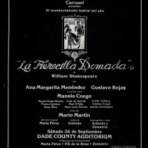"Poster for the production ""La fierecilla domada"""
