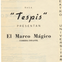 "Program for the production, ""El marco mágico"""