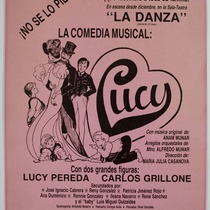 "Poster for the production, ""Lucy"""