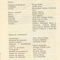 "Program for the production, ""Festival de Teatro 1984"""