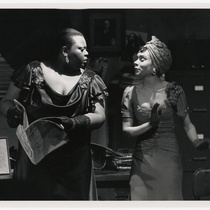 Jannis Warner (Bessie) and Jill Romero (Rita) in the theatrical production, Rita and Bessie