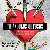 Poster for the production, Triángulos obtusos