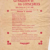 "Program for ""La esquina de los consejales"""