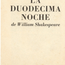 "Program for the production, ""La duodécima noche"""