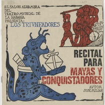 "Program for the production, ""Los triunfadores: recital para mayas y conquistadores (Teatro Musical de La Habana)"