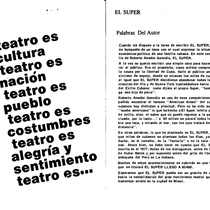 "Program for the production, ""El Super"""