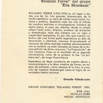 "Program for the production, ""La proposición"""