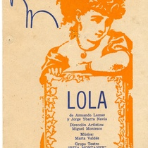 "Poster for the production, ""Lola"""