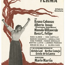 "Playbill for the production, ""Yerma"""
