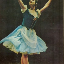 "Alicia Alonso (Giselle) in the ballet, ""Giselle"""