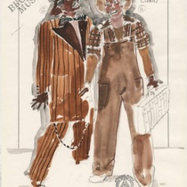 "Costume design for Hot Chocolates Clowns for the production, ""A Broadway Musical"""