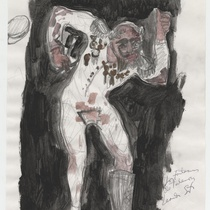 "Costume sketch for the character ""Tulemón"" for the production, ""Los fantasmas de Tulemón"""