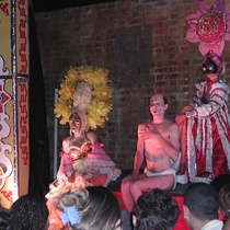 "Photograph of the production, ""Café teatro La Siempreviva"""