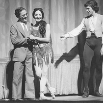"Alberto Alonso, Alicia Alonso, Orlando Salgado in the ballet, ""Carmen"""