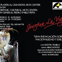 "Poster for the production ""Josefina la viajera"" in Miami"