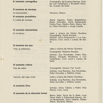 "Program for the production, ""De esto y de algo (Teatro Musical de La Habana)"