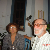Paula Alí and Abelardo Estorino in his birthday party, 2004