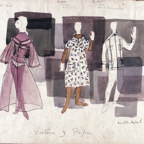 "Costume Design Drawings (1-20) for the production, ""Oh, la gente"""