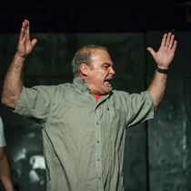 Photographs of the theatrical production, Huevos