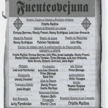 "Program for the production ""Fuenteovejuna"""