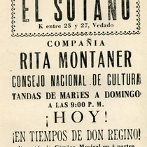 "Program for the production, ""En tiempos de Don Regino"""