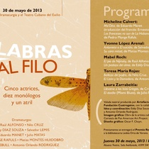 "Postcard for the production, ""Palabras al filo"""