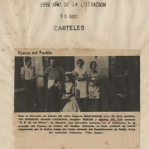 "Newspaper clipping for the production, ""El sí de las niñas"""