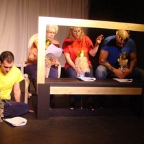 Photographs of the staged reading, El príncipe y el mar