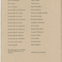 "Program for the production, ""Esto no tiene nombre (Teatro Musical de La Habana)"