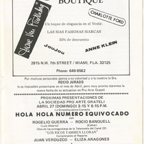"Program for the production, ""La dolorosa"""