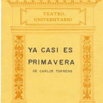 "Cover from the program for the production, ""Ya casi es primavera"""