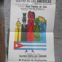 "Poster for the production ""Teatro popular cubano"""