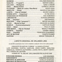 "Program for the production, ""El solar"" (The empty lot)"