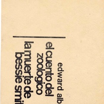 "Program for the production ""El cuento del zoológico"" y ""La muerte de Bessie Smith"""