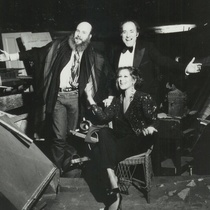 Randy Barceló, Manuel Martín Jr., and Ilka Tanya Payán at Teatro Duo's new space, New York, 1984