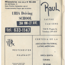 "Program for the production, ""Una noche con Cuba"""