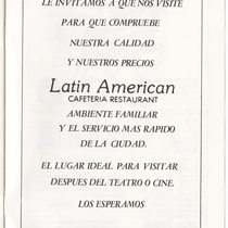 "Program for the production, ""Me voy para Cuba, ¡Fuaaa!"""