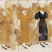 Costume design drawings for the production, Ana