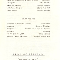 "Program for the production, ""La Celestina"""