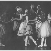 "Alicia Alonso and Clara Carranco in the ballet, ""Giselle"""