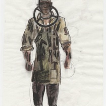 "Costume sketch for the character ""Benito"" for the production, ""Los fantasmas de Tulemón"""