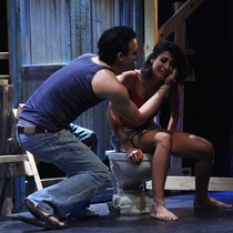 "Photographs of the production, ""Talco, un drama de tocador"""