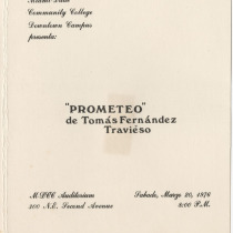 "Invitation for the production, ""Prometeo"""